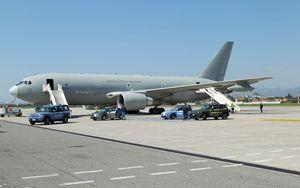 Contingente di infermieri arrivati ad Aeroporto di Bergamo con volo Aeronautica Militare Italiana
