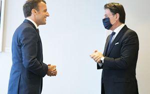 """Conte: """"Forte intesa con Macron, risposta sia ambiziosa"""""""