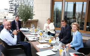 Coronavirus, Merkel e von der Leyen: Paesi membri d